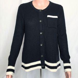 Rag & Bone Knit Button Down Striped Cardigan